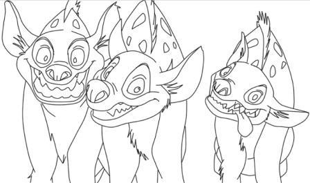 dibujo-hiena-rey-leon
